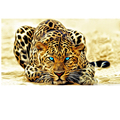 5d diy diamond leopard pattern Cross Stitch diamond painting round animal embroidery beads patterns picture of rhinestones