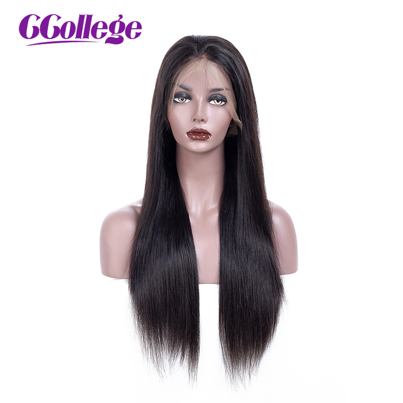 CCollege 360 Lace Frontal Wig With Baby Hair Remy Straight Hair Glueless Brazilian Human Hair 360