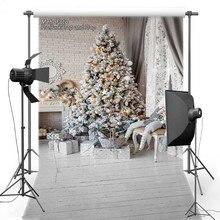 MEHOFOTO Fotografia Vinil Backdrops Natal De Madeira Branca Para As Crianças Novo Tecido de Flanela ST551 fundos para estúdio de fotografia