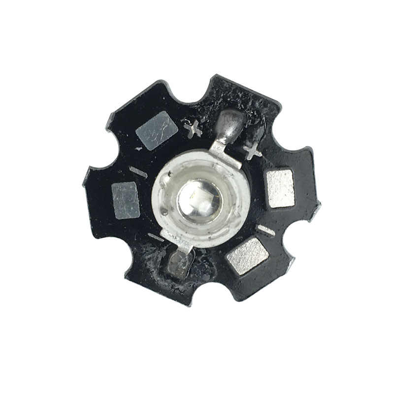 100pcs/lot 3W Extreme Royal Blue Power LED 445nm-450nm Plant Grow with 20mm Star base