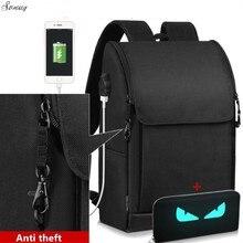 Новый многофункциональный USB зарядки Для мужчин 17-дюймовый ноутбук Рюкзаки для подростков Модные мужские Mochila отдыха и путешествий рюкзак анти-вор