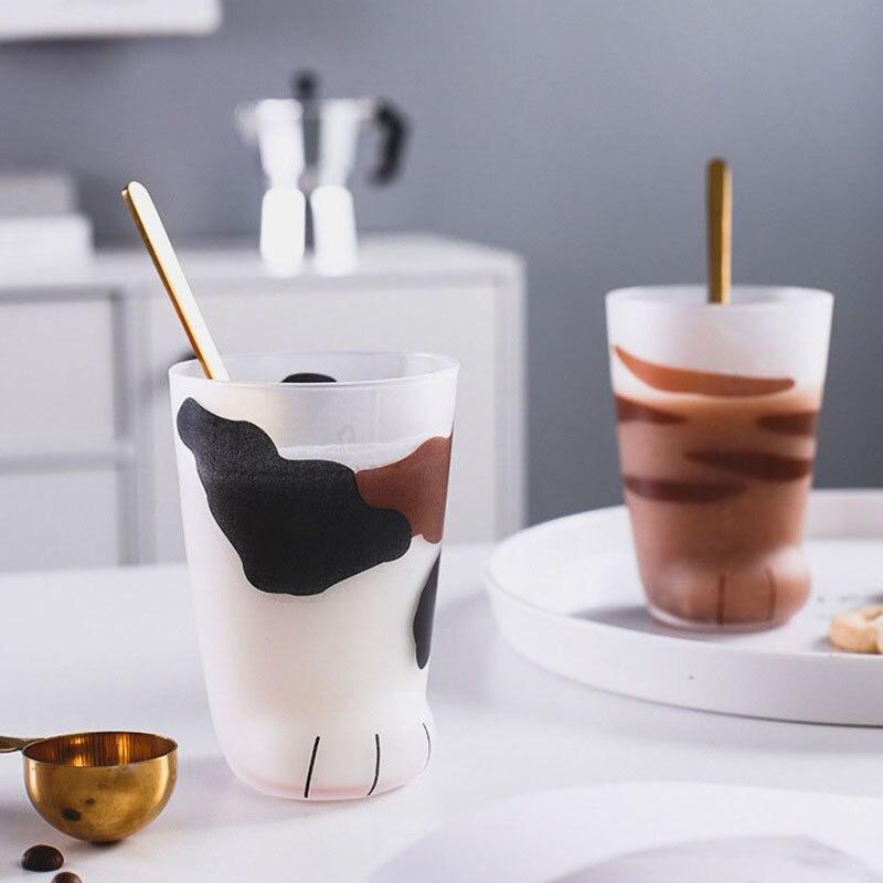 Новые креативные милые кошачьи лапы, стеклянная кружка с тигром, кружка для офиса, кофейная кружка, стакан, индивидуальная чашка для завтрак...