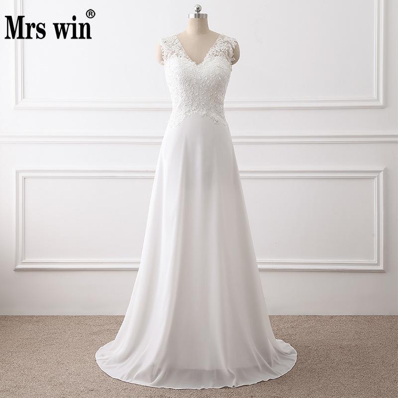 Vestidos De Novia 2019 Simple Lace Mermaid Wedding Dresses 2019 Boho V Neck Sexy Wedding Dress
