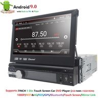 Universal 1 din Android 9.0 Quad Core Car DVD player GPS Wifi BT Radio BT 2GB RAM 32GB SD 16GB ROM 4G SIM LTE Network SWC RDS CD