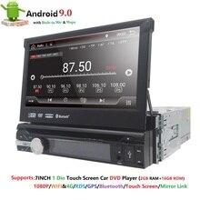 Универсальный 1 din Android 9,0 4 ядра DVD плеер gps Wifi BT Радио BT 2 Гб оперативная память 32 SD 16 Встроенная г SIM сети LTE SWC RDS CD