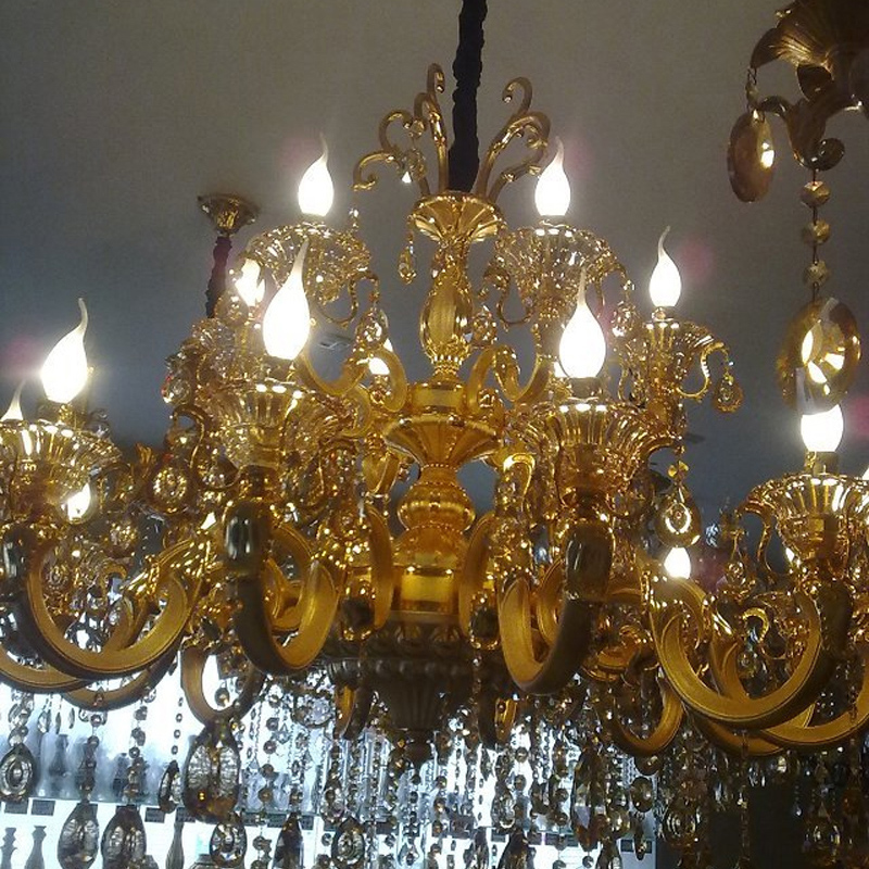 Gold Chandeliers Luxury Modern Crystal Chandelier For