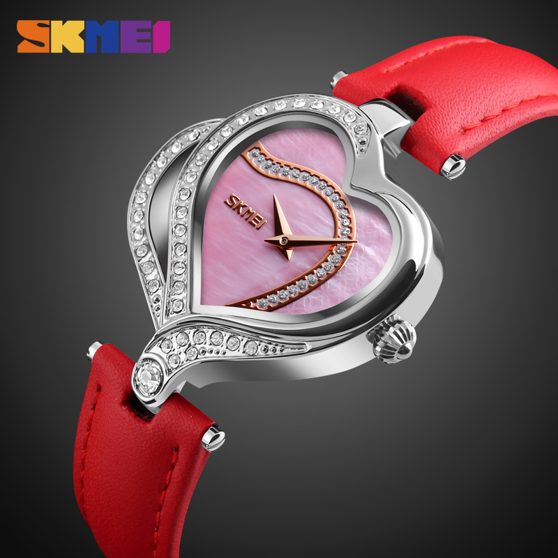 купить SKMEI Women Fashion Quartz Watch Creative Watches Casual Waterproof Wristwatch Luxury Brand Quartz Watch Ladies Relogio Feminino по цене 1019.28 рублей