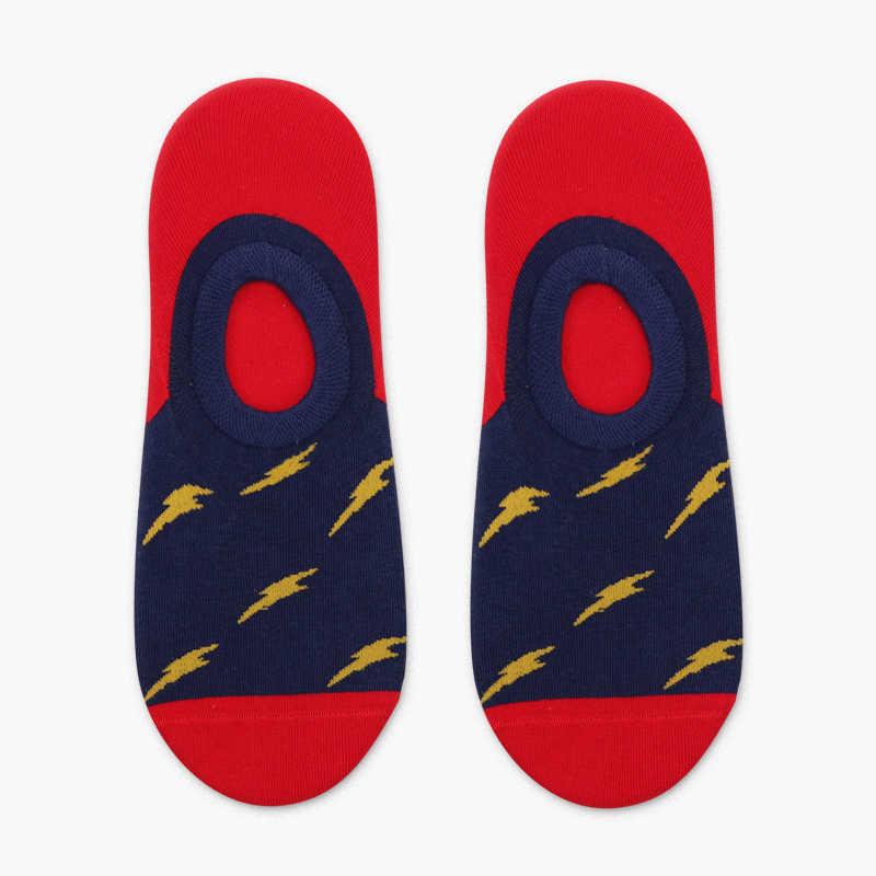 4 пары Горячие 2019 новый креативный дизайн мужские и женские носки для лодыжки белые маленькие точки счастливые забавные животные Красочные хлопковые летние носки