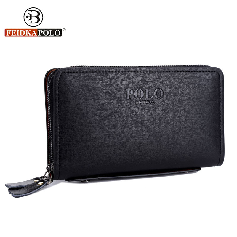 FD POLO Brand Bag Men Wallets Clutch Carteira Masculina High Quality Leather Carteras Male Handbags Purse Mens Monederos Wallets  цена