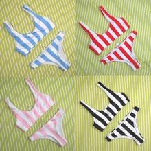 Women's Sexy Striped Bikini Set Push-Up Padded Swimwear Swimsuit Bathing suit