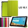 2015 Новый высокое качество pu кожаный чехол стенд tablet чехол для LG G Pad 2 10.1 V940 Tablet чехол + стилус + бесплатная доставка