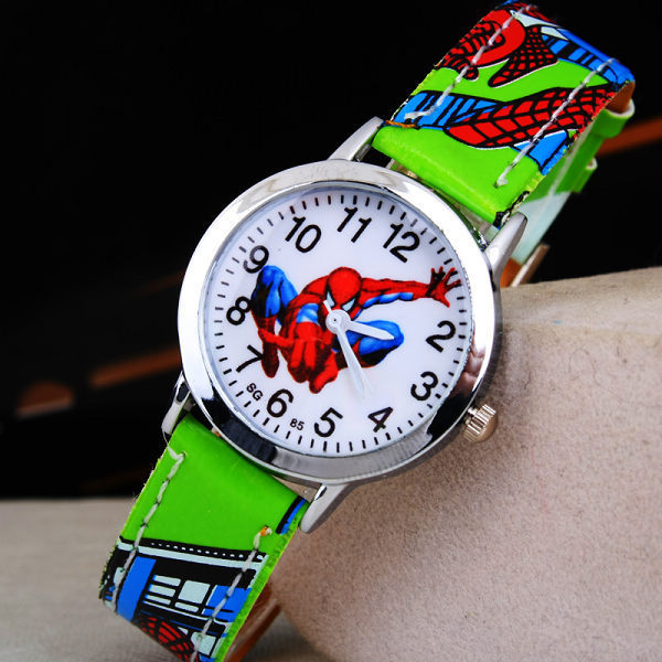 Ruislee Hot Sale SpiderMan Watch Cute Cartoon Watch Kids Watches Rubber Quartz Watch Gift Children Hour reloj montre relogio