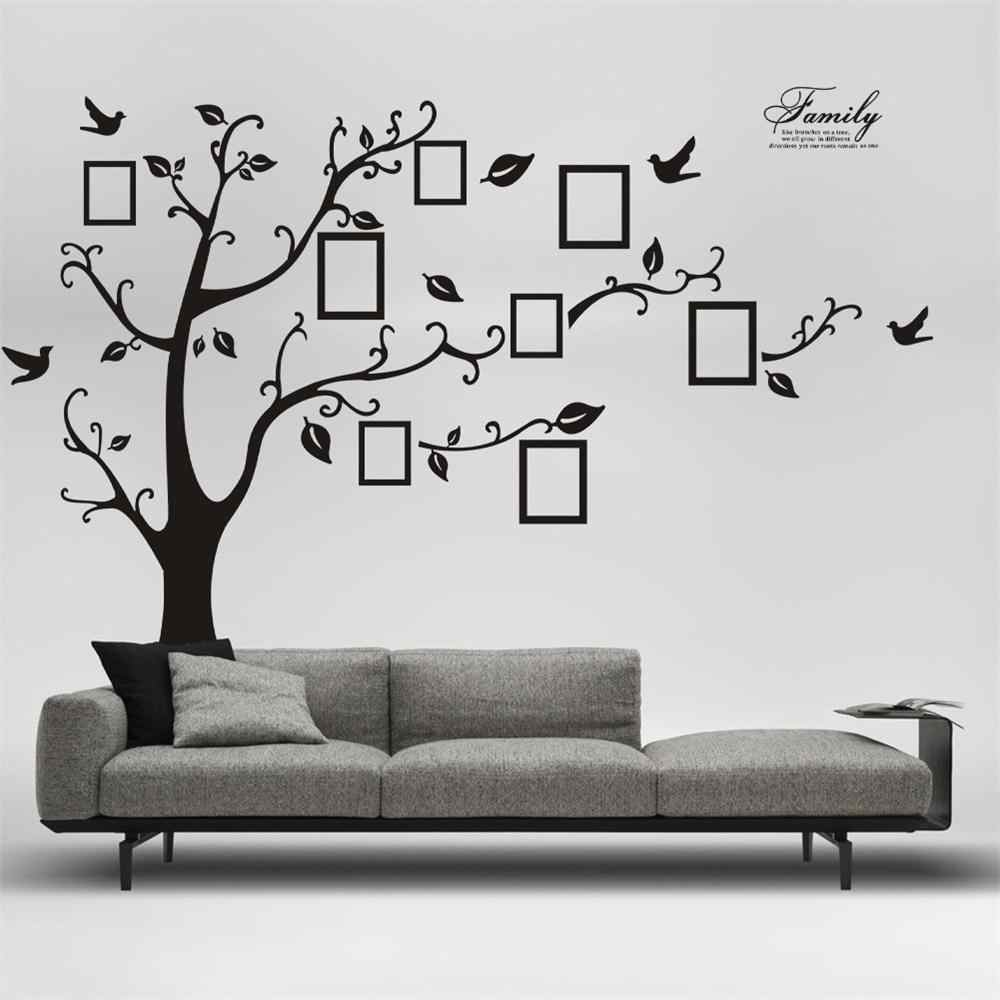 1PC Home Decor Paper DIY Adhesive Mural Art Wall Stickers Photo Tree Bird Tree Decals Wall Papers New Home Improvements