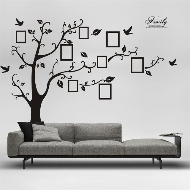 1PC Home Decor Paper DIY Adhesive Mural Art Wall Stickers Photo Tree ...