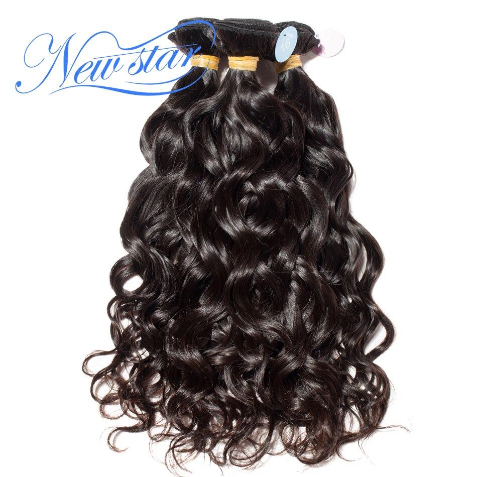 New star волос естественная волна 3 Связки перуанский Девы волос Ткань Extensions10'-34' длинные Inch 100% необработанные человеческие Инструменты для зав...