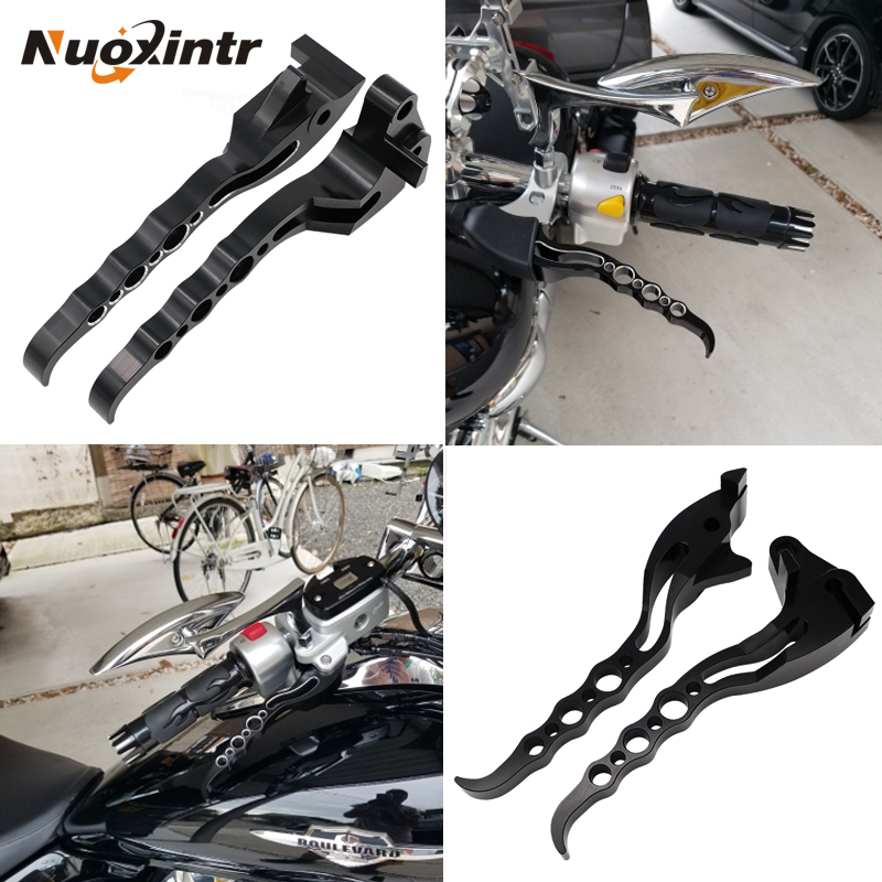 NUOXINTR Motorcycle Brake Clutch Levers Black Chrome New For Suzuki Boulevard M109R 2006-2017 free shipping brand new rear solo seat cover for suzuki boulevard vzr 1800 2005 2006 m109r 2006 2012 red