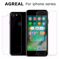 2Pc/Lot 0.3MM 9H 2.5D Coated Front+Back Tempered Glass For iPhone 7 6s 6 Plus 5s 5 SE 4s 4 ExplosionProof Screen Protector Film
