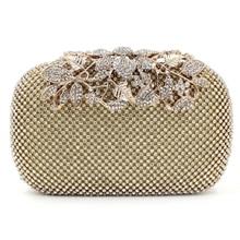 Luxury Real Neue Ankunftshandtaschen Tageskupplungen Diamanten Blume Frauen Tasche Bankett Kristall Handtasche Hochzeit Handtaschen Nacht Clubs Geldbörse