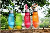 Nueva llegada té de fruta de limón infusor estudiante Alu tapa botellas de agua BPA botella de agua tritan gratis