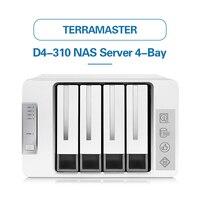TerraMaster Original D4 310 USB3.0 Type C 4 Bay RAID Enclosure Support RAID 0/1/Single Exclusive 2+3 RAID Mode Hard Drive RAID
