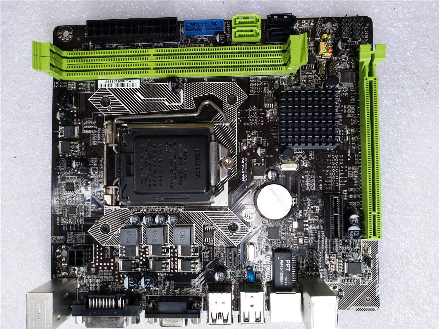 Used, for MAXSUN MS-H81M solid-state 19 * 17 H81M motherboard VGA + DVI G3250,100% tested good