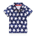 Toddler Boy Stars Short Sleeve Polo Shirts kids shirt  boys polo tee classic boy clothes boys polo tee shirts