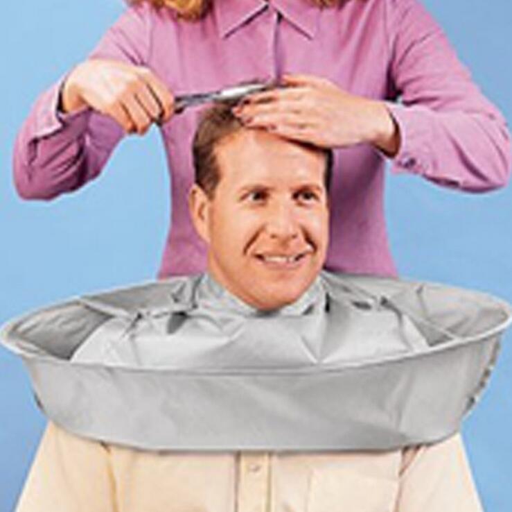 1 unid fácil doblar adulto capa de peluquero a prueba de agua - Cuidado del cabello y estilo