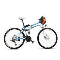 TX660D 500 W 26 '' Tam Süspansiyon Katlanır Elektrikli Bisiklet, Tam Süspansiyon, yüksek Kaliteli E Bisiklet, Dağ Bisikleti, 27 Hız E Bisiklet