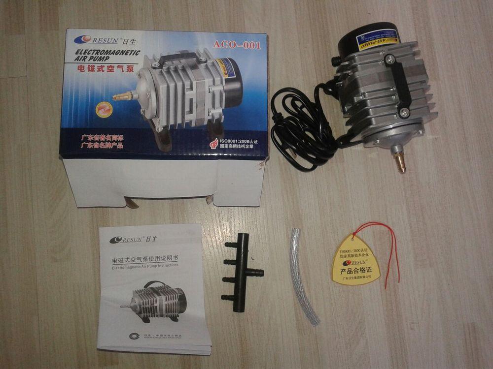 NEW Resun ACO 001 High Quality 18W 38L mini Aquarium Fish Tank Pond Electromagnetic Air Compressor