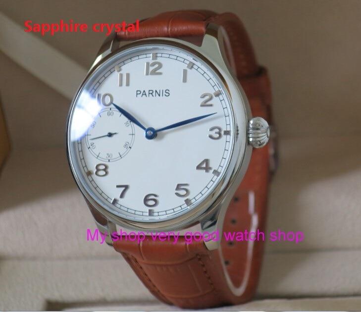 44mm Sapphire Crystal PARNIS M222S /ST3600 17 jewels gooseneck hand Wind mechanical watches High quality men's watch RNM22 boegli m 44