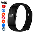 Newest V66 Smartband 0.66'' OLED Heart Rate Monitor Bluetooth 4.0 IP68 Waterproof Smart Wristband Bracelet for IOS Android Phone
