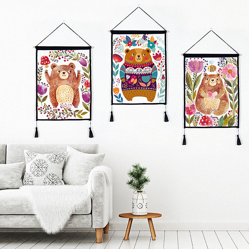 24 Creative Bedroom Wall Decor Ideas: Creative Hanging Painting For Living Room Bedroom Wall