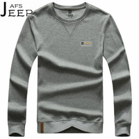 JI PU Wholesale Man's Cotton Pullover Hoodies,Full Sleeve Autumn Breathe Cargo Knitted Active Male Sweatshirts solid