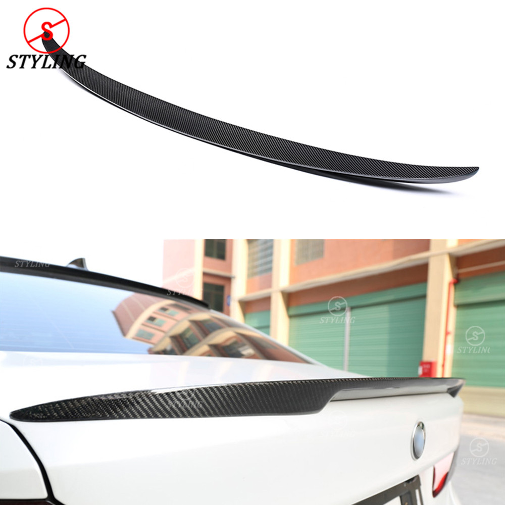 цена на For BMW G30 Carbon Spoiler P Style 5 Series G30 530i 540i& F90 M5 Carbon Fiber rear spoiler Rear Bumper trunk wing styling 2017+
