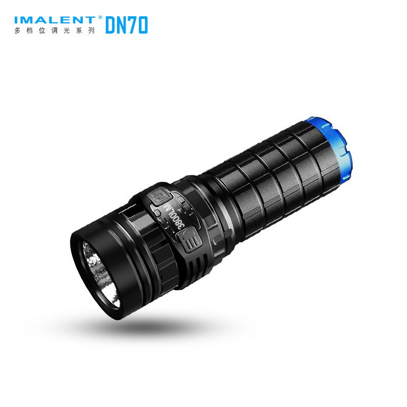 IMALENT DN70 USB Rechargeable CREE XHP70 3800 Lumens 325 Meters LED Flashlight by 26650 Battery lumintop super bright searching flashlight odl20c max beam distancse 860 meters usb type c quick charge 26650 battery