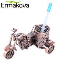 ERMKOVA Metal Motorcycle Model Retro Motorbike Model Pencil Cup Antique