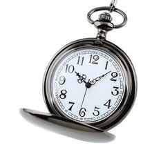 Fashion Creative Classical Pocket Watch Charm Smooth Unisex Fashion Quartz Pocket Watch Steampunk Necklace Pendant Chain Watches wholesale blue gemstone copper unisex pocket watch necklace key freeship