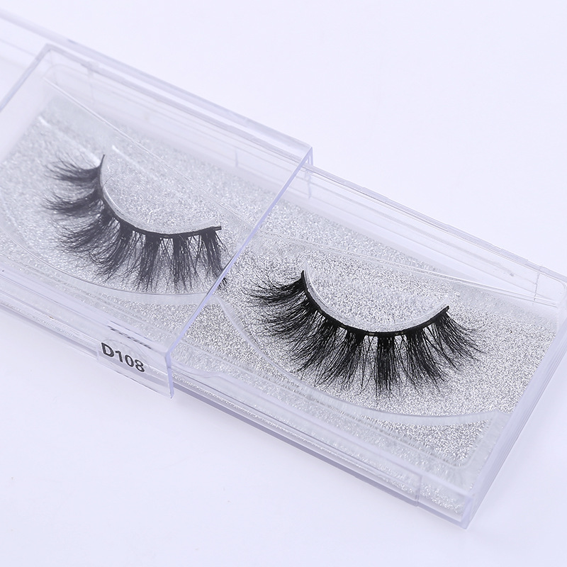 Mink Eyelashes 3D Mink Lashes Thick HandMade Full Strip Lashes Cruelty Free Luxury Mink Lashes D101-D112