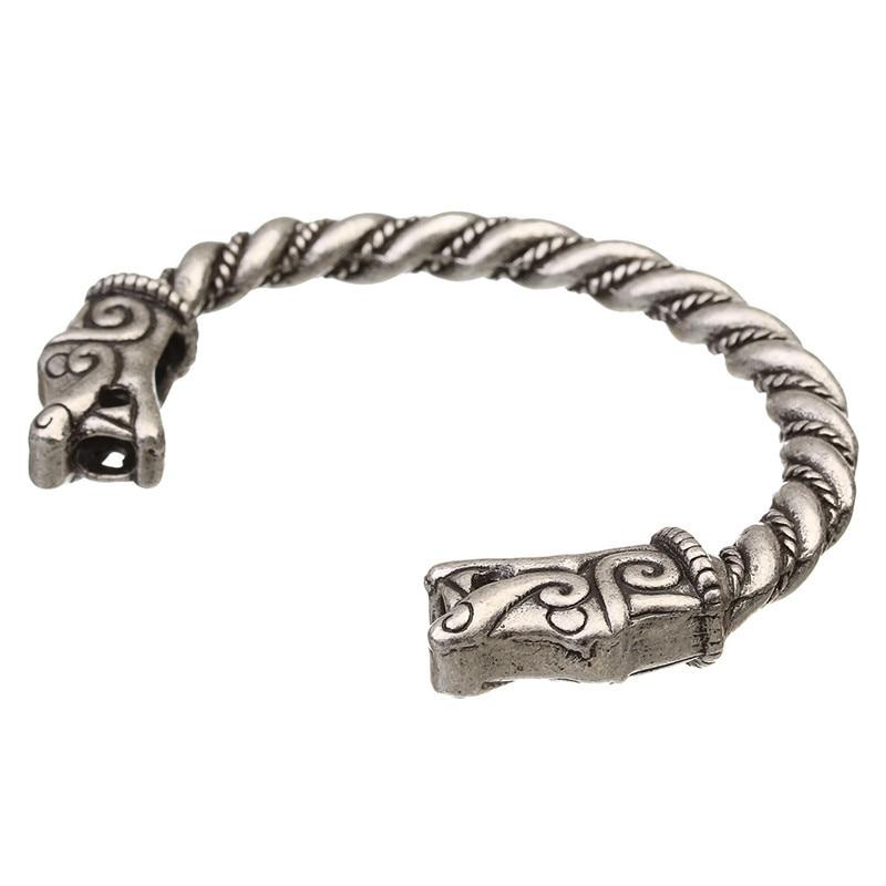 XINYAO Retro Otvoreni Fenrir Zmaj Viking narukvice Bangles za - Modni nakit - Foto 4