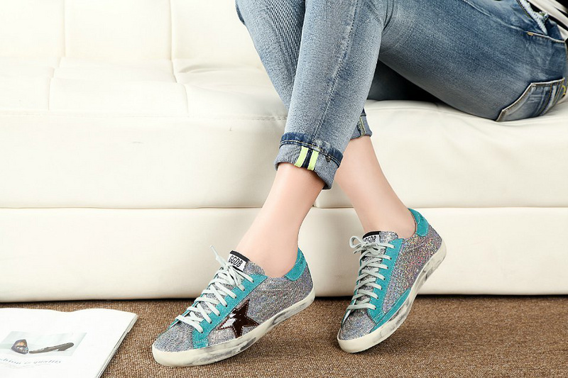 7991893f2154 EUR size 36 41 Handmade Women golden goose low sneakers Superstar sneakers  Women s ggdb casual canvas shoes Silver Sequins-in Fitness   Cross-training  Shoes ...