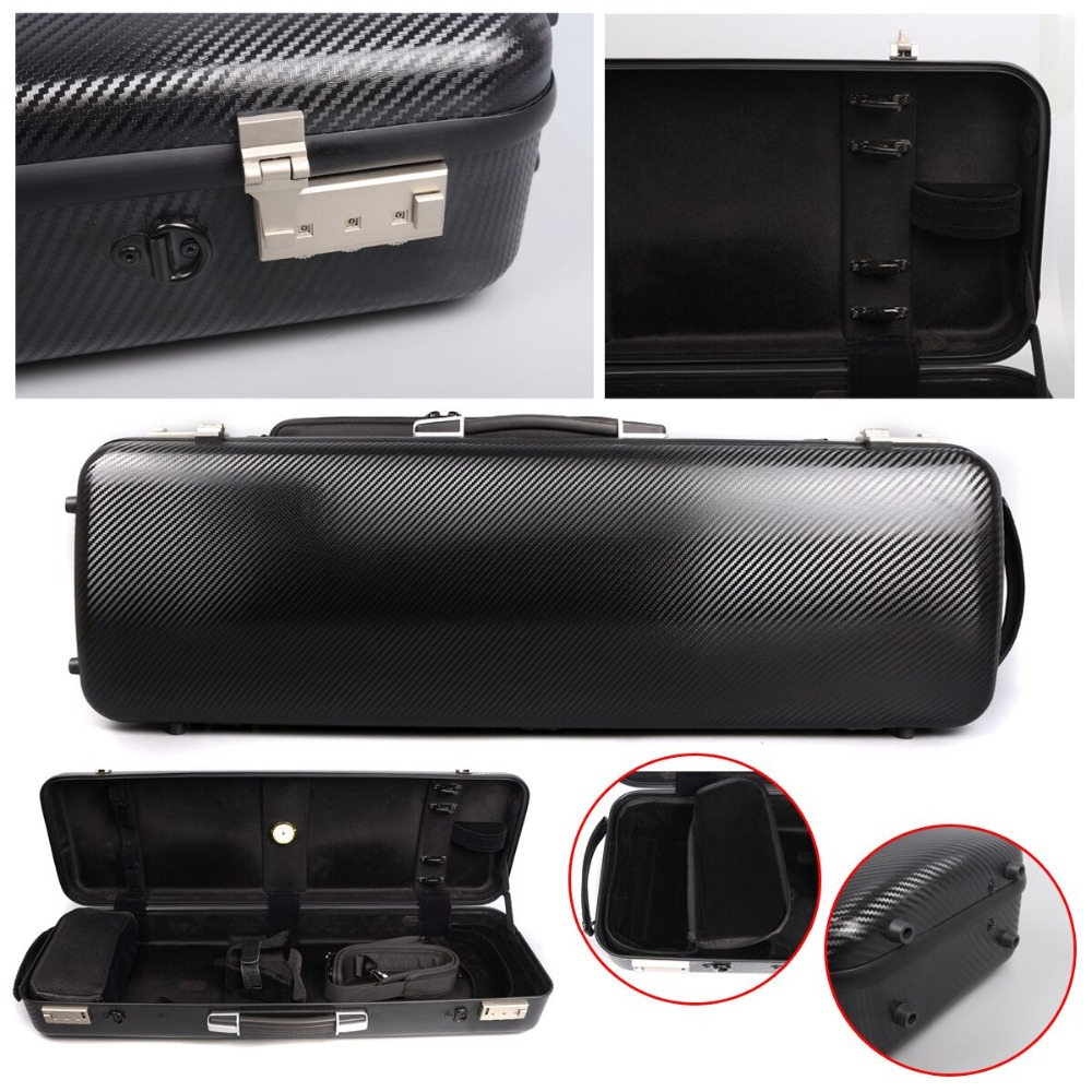 Yinfente Good Rare 4/4 Violin Case Black Carbon Fiber High strength load-bearing 200KG Fine Code lock Oblong Case yinfente 4 4 violin case box black mixed carbon fiber oblong case strong light 2 1kg music sheet bag full size