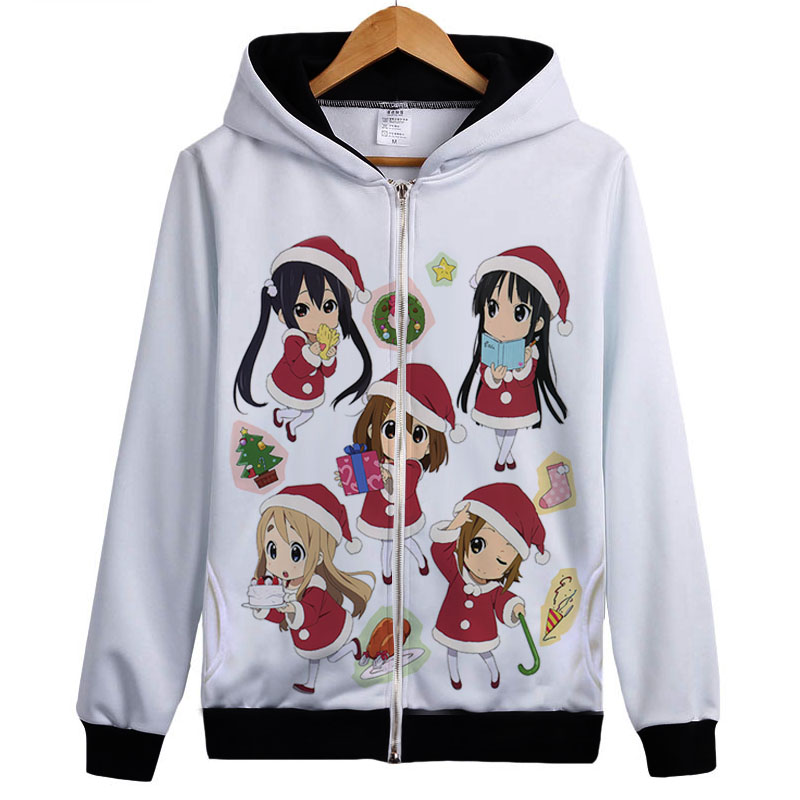 K-ON hoody Japan Music Anime K-ON Kon Hirasawa Yui Akiyama Mio Tainaka Ritsu hoodie jacekt coat men women christmas gift ...