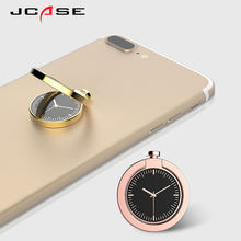 JCASE Magnet Phone Finger Ring Holder Stand 360 Degree Metal for Huawei iPhone 7 6 Plus Magnetic GPS Car Holder Tablet Bracket(China)