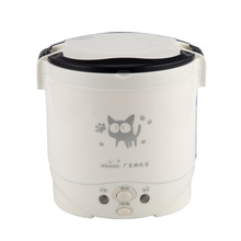 1L Electric Mini Rice Cooker Used In House 220V Or Car 12V Truck 24V Enough For Two Persons with FREE EU plug or US PLUG