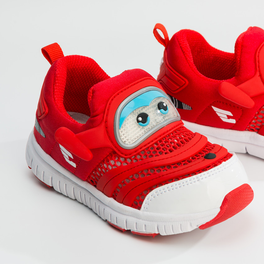 Super Wings Shoes Led Shoes Kids Girls Boys Summer Mesh Shoes Kids Light Up Shoes Super Wing Jett for 2-8 Years Old tretorn tretorn wings kids 2620841