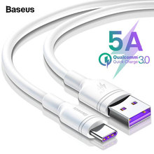 Baseus 5A USB C Cable For Huawei Mate 20 P20 Pro Fast Charging Data USB Type C Cable For Xiaomi mi 9 Oneplus 6t 6 USB-C Charger type c charger cable typec charging cable data sync for oneplus 3t leeco xiaomi mi5s plus note 2 for huawei mate 9