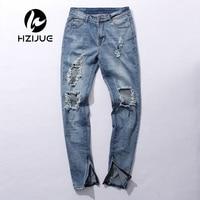 Kpop Skinny Ripped Korean Hip Hop Fashion Pants Cool Mens Urban Clothing Jumpsuit Men S Jeans