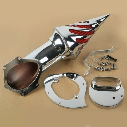 Chrome Spike Air Cleaner Intake Filter For Yamaha V Star XVS 1100 Custom Classic стоимость