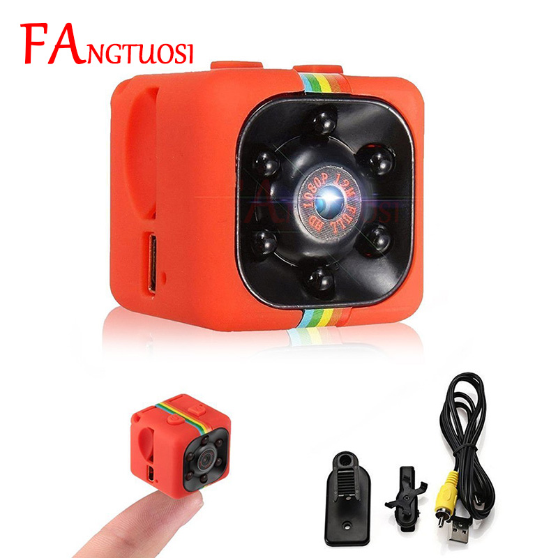 FANGTUOSI SQ11 HD 1080P Mini Camcorder Mini Camera CMOS Infrared Night Vision Monitor