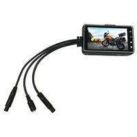 Motion Detection High Definition Video Recorder Dash Cam Dual Lens Dashboard Driving Night Vision DVR LCD Display Motorcycle